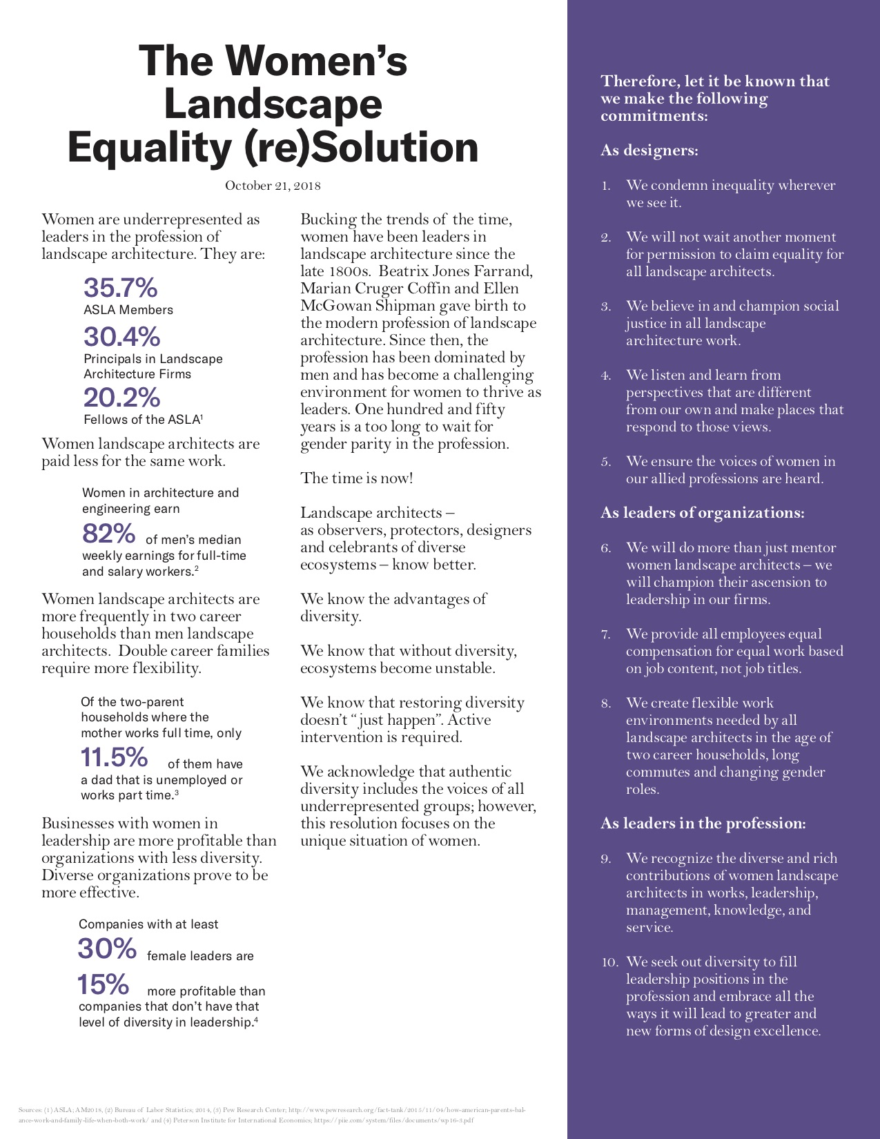 The Women's Landscape Equality (re)Solution - Cadence : Cadence